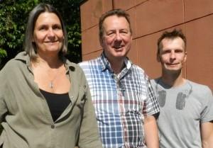 Professora Adriana Matinelli e os holandeses Richard Immink e Ruud de Maagd