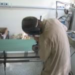 Abertura testemunho sedimentar no Laboratorio C-14