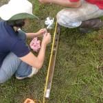 Amostragem de solo e sedimento coletados por sonda